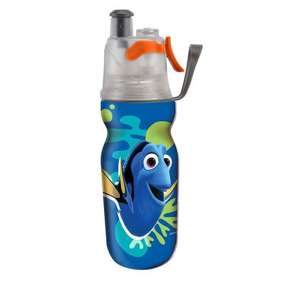Babies R Us O2Cool Kids Mist 'N Sip 12 Ounce Insulated ArcticSqueeze Hydration Bottle - Nemo/Dory