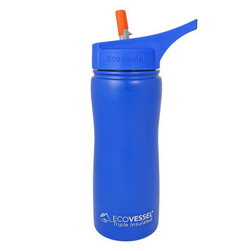Eco Vessel Thermoses Summit Triple Insulated 17 fl. oz. Stainless Steel Bottle with Flip Straw SUM500HB