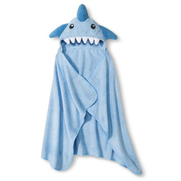 Circo Newborn Boys' Hooded Shark Towel Wrap - Blue
