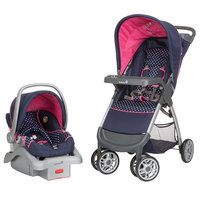 Dorel Juvenile Infant Girl's Cute As A Hoot Amble Quad Travel System - Polka Dot