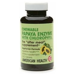 American Health Products American Health Chewable Papaya Enzyme with Chlorophyll, 250 tablets