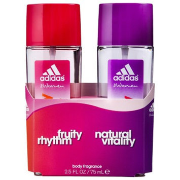 Women's Fruity Rhythm and Natural Vitality by Adidas Gift Set - 2 pc