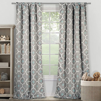 Lala + Bash by Duck River Textile Ginger Thermal Blackout Pair Panels (Set of 2) - Grey Blue