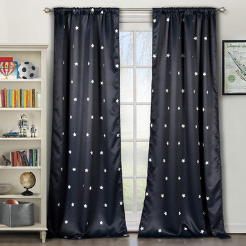 Lala + Bash by Duck River Textile Gruden Thermal Blackout Pair Panels (Set of 2) - Navy