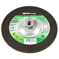 Forney 71898 Grinding Wheel with 5/8-Inch-11 Threaded Arbor Masonry Type 27 C24R-BF 7-Inch-by-1/4-In