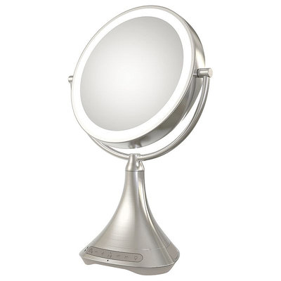 iHome 7X Double-Sided Vanity Mirror with Bluetooth Speaker, Multi/None