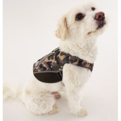 Doggles Dog Wear Reflective Mesh Vest Harness in Green Camo Size-See Chart Below: XXS