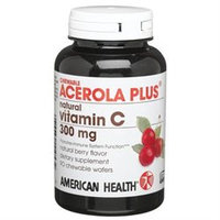 American Health Chewable Acerola Plus, Natural Vitamin C 300mg 90 chewable tablets