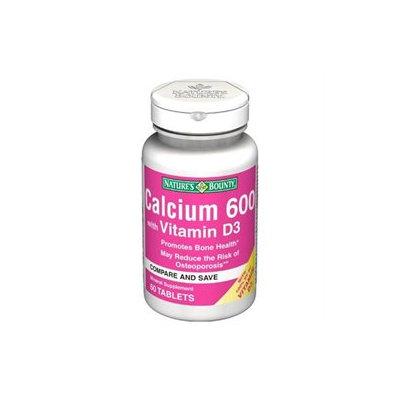 Nature's Bounty Calcium 600 Plus Vitamin D3, Tablets