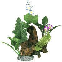 Blue Ribbon Exotic Environments Chestnut with Plants - Medium