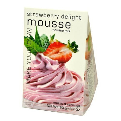 Foxy Gourmet Strawberry Delight Mousse Mix, 3.2-Ounce Boxes (Pack of 3)