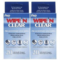 Flents Wipe 'n Clear Pre-Moistened Lens Wipes-20 ct
