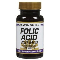 Windmill Folic Acid 800 mcg Tabs, 100 ct