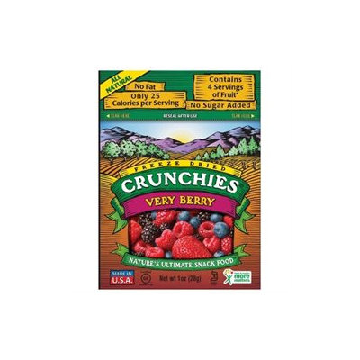 Crunchies Freeze Dried Snack Food, Very Berry, 1 oz