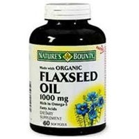 Nature's Bounty Organic Flaxseed Oil 1,000 mg Softgels