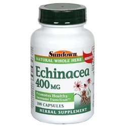 Sundown Herbals Echinacea Capsules 400 Mg, By Sundown - 100 Capsules