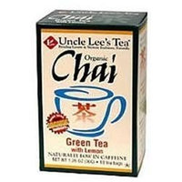 Uncle Lees Tea Organic Tea Green/Lemon Chai - 18 CT,(Uncle Lee's Tea)