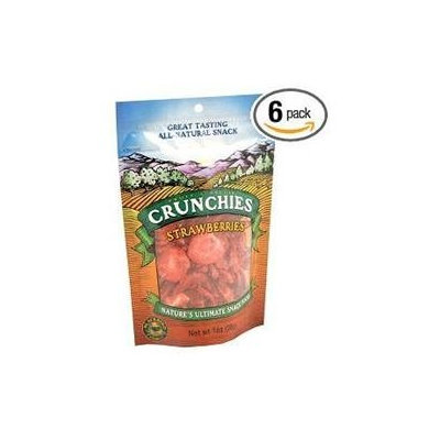 Crunchies Freeze Dried Snack Food Strawberries - 1 oz