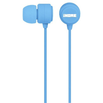 iHome Rubberized Earbuds - Blue