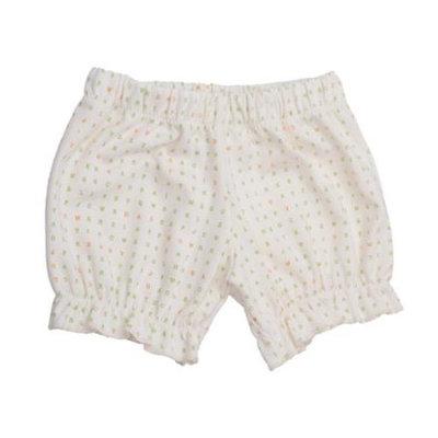 Baby Girls White Alphabet Pattern Organic Cotton Bloomers 6-9M