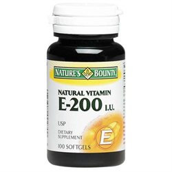 Tures Bounty Multivitamin Nature's Bounty E-200iu Pure dl-Alpha 100 Softgels