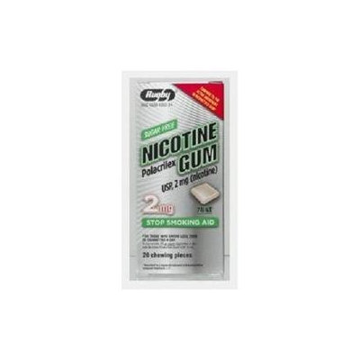 Watson Rugby Labs Nicotine Gum 2 mg, Mint, 20 Chewing Pieces, Watson Rugby