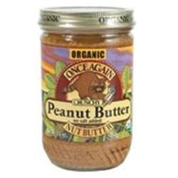 Once Again - Organic Peanut Butter Crunchy No Salt - 16 oz.