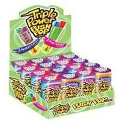 Topps Company Topps Triple Power Push Pop Candy - 16 / Box
