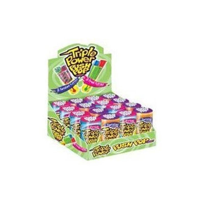 Topps Company Topps Triple Power Push Pop Candy - 16 / Box