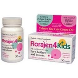 Florajen 4 kids probiotic dietary supplement capsules - 30 ea