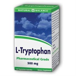 L-Tryptophan, 500 mg, 60 Veggie Caps, Natural Balance
