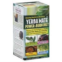 Irwin Naturals Vitamin Applied Nutrition Yerba Mate Power Burn Diet Tablets, 60 Ea