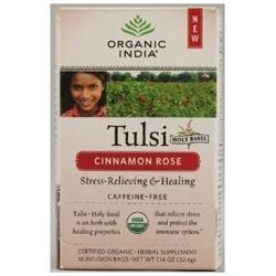 Organic India Tulsi Tea Cinnamon Rose - 18 Tea Bags