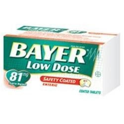 Bayer Regimen Tablets, Adult Low Strength Aspirin Pain Reliever, 81
