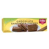 Schar Chocolate Sandwich Cremes 5.3 Oz Pack of 12