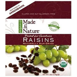 Made In Nature, Organic Raisins, 6 Oz (170 G)