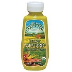 Organicville Organic Yellow Mustard - 12 oz - Vegan