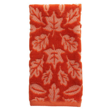 Harvest Leaves Hand Towel, Orange