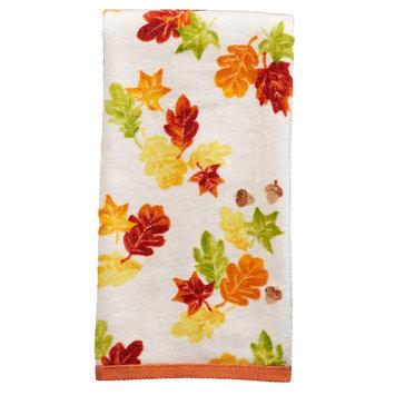 Harvest Falling Leaves Hand Towel, Multicolor