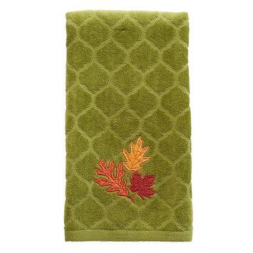 Harvest Leaves Trio Hand Towel, Green