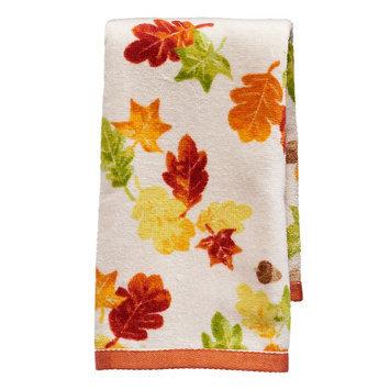 Harvest Falling Leaves Fingertip Towel, Multicolor