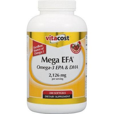 Vitacost Mega EFA Omega-3 EPA & DHA -- 2,126 mg per serving - 240 Softgels