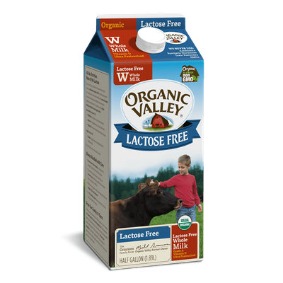Organic Valley® Lactose-Free Whole Milk, Ultra Pasteurized, Half Gallon