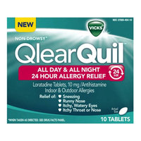 QlearQuil™ All Day & All Night 24 Hour Allergy Relief Tablets