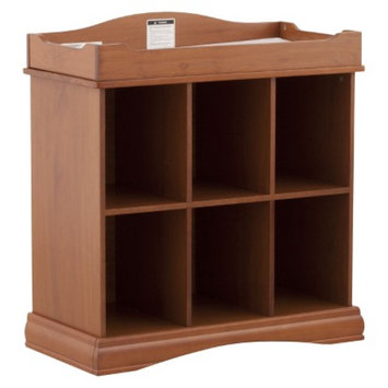 Stork Craft Beatrice 6 Cube Organizer/Changing Table - Oak
