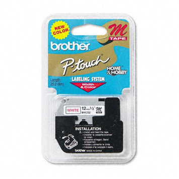 Brother International Mk232 1/2inch Red On White Non-laminated Label Maker Tape For The Brother Pt55bm Pt55s