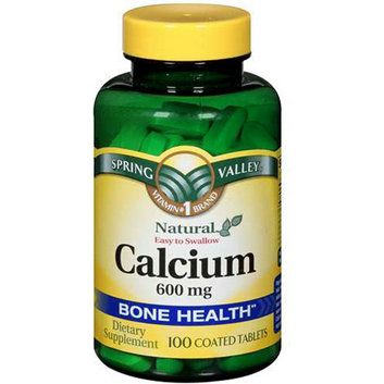 Spring Valley : Natural Easy To Swallow 600 Mg Bone Health Calcium Dietary Supplement