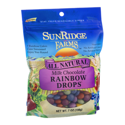 SunRidge Farms All Natural Milk Chocolate Rainbow Drops