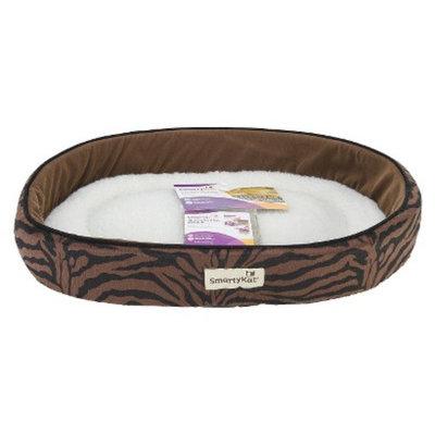 SmartyKat CatnipLounger Cozy Catnip Pet Bed - Brown Zebra (20