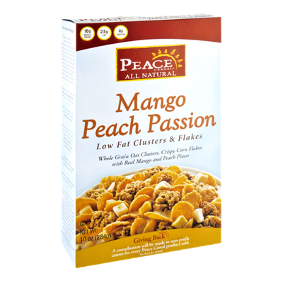 Peace Cereal All Natural Mango Peach Passion Low Fat Clusters & Flakes
